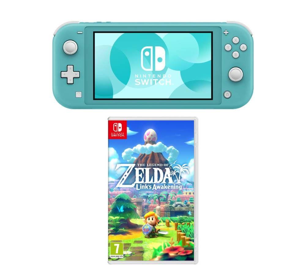 NINTENDO Switch Lite & The Legend of Zelda: Links Awakening Bundle - Yello/Grey/Turquoise for £189 With Code @ Currys/ Ebay