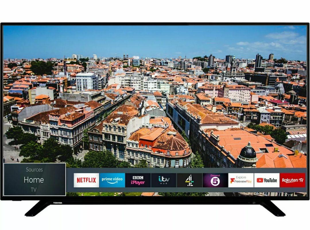 Toshiba 49U2963DB 49 Inch TV Smart 4K Ultra HD LED Freeview HD 3 HDMI Dolby £274.99 with code  @ Ebay (AO)