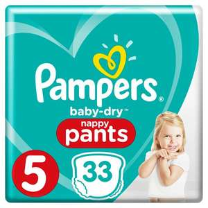 Pampers Baby Dry Size 5 and 6. Better than half price. £3.75 @ Tesco