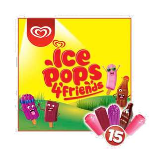 Walls ice pops  4'friends 15 only 79p instore @ Heron Foods Hartlepool