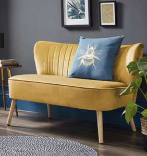 Cocktail Sofa - Ochre - £120 delivered at Homebase