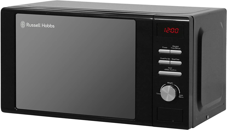 Russell Hobbs RHM2064B Heritage Digital 800w Solo Microwave, 20 Litre - Black - £52.24 @ Amazon