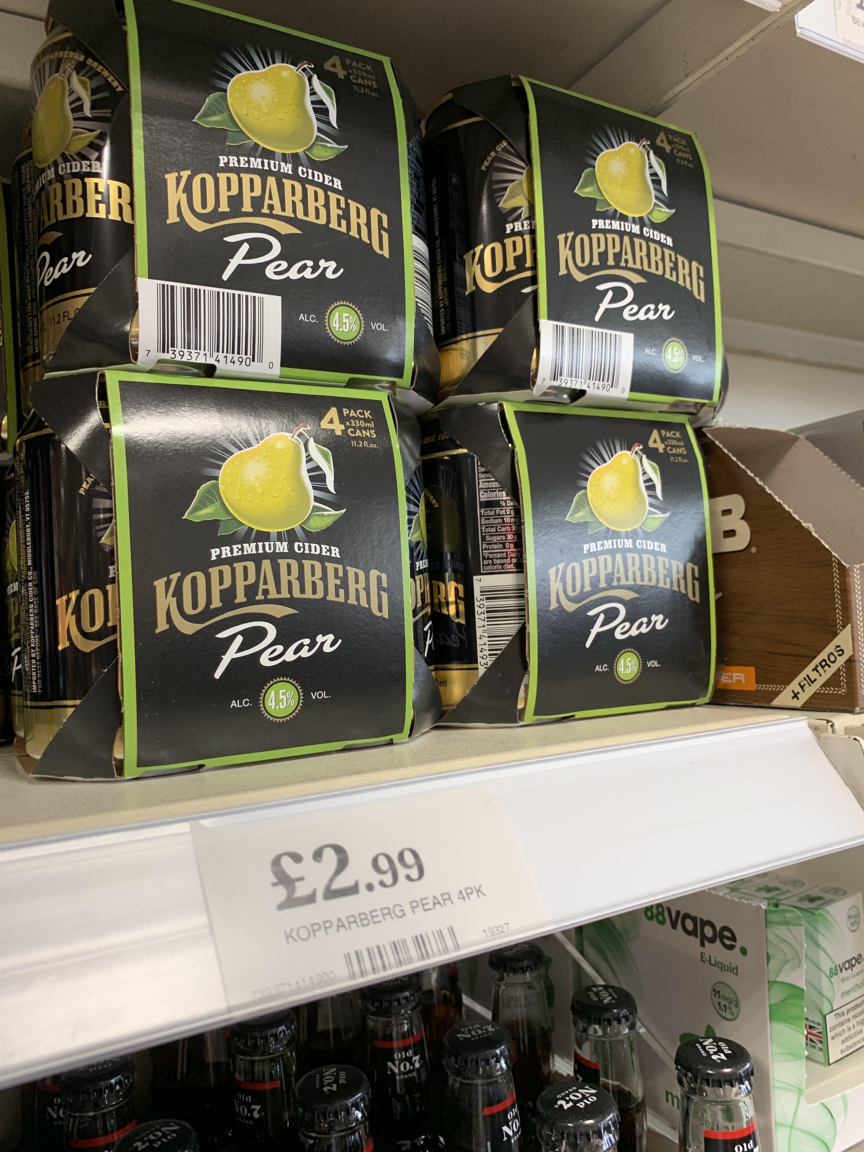 Kopperberg Pear Cider 4x 330ml cans £2.99 @ Home Bargains