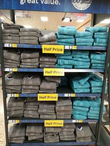 Half Price (from £4 to £2 now) on Bath Towels at Tesco Instore (Royston)