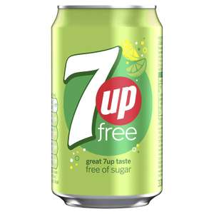 7UP Free Sparkling Lemon and Lime Drink Cans, 330ml (Pack of 24) £6 @ Amazon (+£4.49 non-Prime)