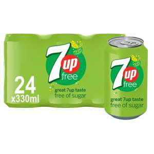 7UP Free 330ML 24 Pack Lemon & Lime Soft Drink £6 @ Tesco
