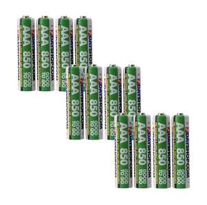 """7dayshop """"GOOD TO GO"""" AAA Rechargeable Batteries NiMH Pre-Charged 850mAh - Extra Value 12 Pack for £6.94 at 7dayshop"""