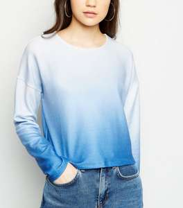 Blue Ombré Brushed Fine Knit Top £5 at New Look Shop