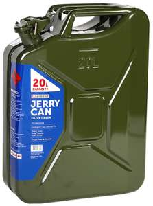 Sandleford 20ltr Metal Jerry Can, green or black £11.25 at Homebase