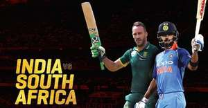 India Vs South Africa Cricket Live on Star Gold Sky Channel 717 (free with basic entertainment package)