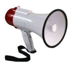10W handheld megaphone with wrist strap and folding handle (Projection range Up to 100m) - £8.50 delivered @ CPC