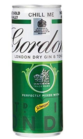 Gordon's Gin and tonic 10x250ml £10 at Amazon Pantry