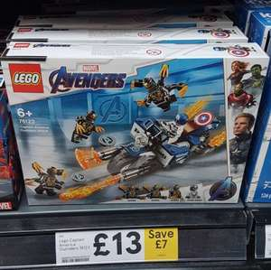 Lego 76123 Captain America: outriders attack £13 at Tesco Salford
