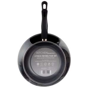 Essentials 2-Piece Carbon Steel Frying Pan Set 20/25cm-w/c £4.49 at Robert Dyas