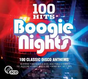 100 Hits: Boogie Nights 100 track CD Box Set with MP3 version included now £3 (Prime) + 99p (non Prime) at Amazon
