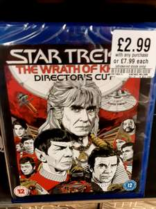 Star Trek 2 The Wrath of Khan Director's Cut Blu-ray 2.99 with any purchase @ HMV instore