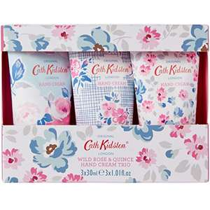 Cath Kidston Wild Rose and Quince Hand Cream, 30 ml, Pack of 3 Now £6.42 with Prime / £10.91 non prime @ Amazon