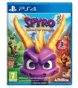 Spyro Reignited Trilogy PS4 & Xbox one £19.99 or 2 for £30 on preowned @ Game
