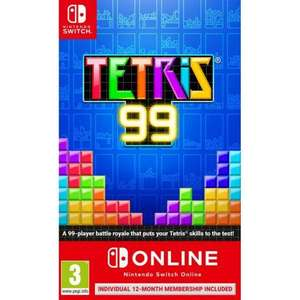[Nintendo Switch] Tetris 99 (Inc All Big block DLC Content) & 12 month NSO Subscription £20.95 delivered @ The Game Collection