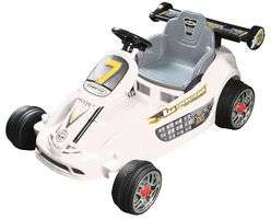 6V Go-Kart Style Ride On Car with Twin Motor - White (Suitable for ages 3 to 7) £39.60 at CPC (free delivery)