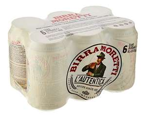 Birra Moretti Premium Lager Beer Cans 6pk £3 @ Amazon Pantry / prime members (minimum orders of £15 - £3.99 delivery)