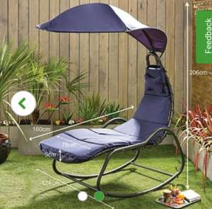 Helicopter Chair // Garden Lounger at Dunelm for £64.50