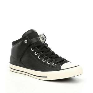 (size 9 only) Converse - Black Leather 'Chuck Taylor All Star' Trainers £19.50 at Debenhams (Free delivery with code)
