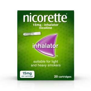 Nicorette 15mg inhalator 20pk now £10 Reduced to clear in Wilkinsons instore