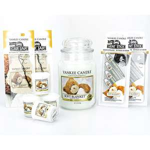 15 Piece Yankee Candle Set (Soft Blanket Fragrance) £20.90 with code @ Yankee Bundles (£22 without code)