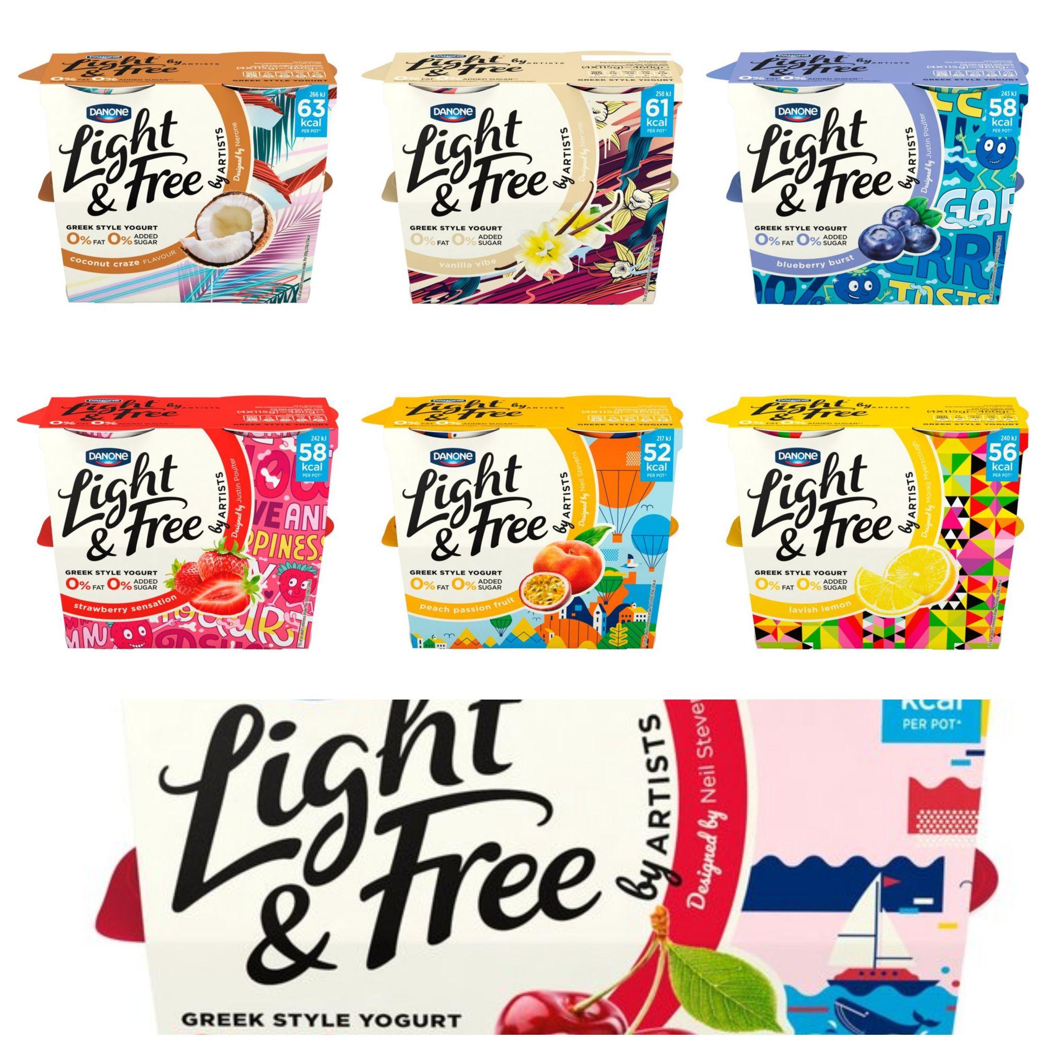 Danone Light & Free (All Varieties) 4 x 115g for £1 @ Morrisons