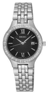 Seiko Ladies' Black Dial Stainless Steel Watch now £29.99 free click and collect at Argos
