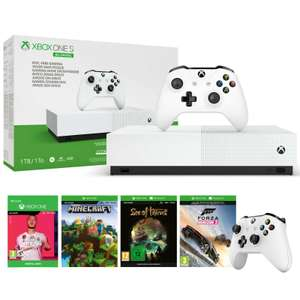 Xbox One S All Digital 1TB Bundle 2 Wireless Controllers FIFA 20, Sea of Thieves,Forza Horizon3 and Minecraft also inc. £179 ebay /  yoltso