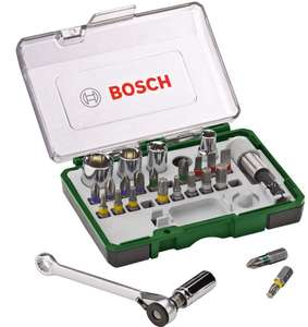 Bosch 2607017160 Screwdriving Set with Mini Ratchet (27 Piece) - £11.99 (Prime)/£16.48 (Non Prime) @ Amazon