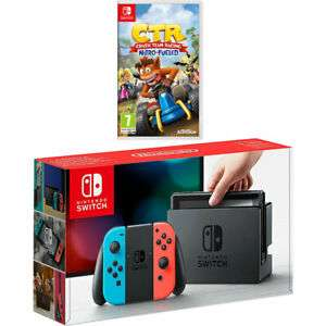 Nintendo Switch Neon + Crash Team Racing Nitro-Fueled 32GB for £249 delivered @ AO eBay