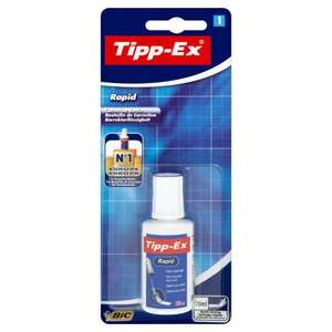 TIPP-EX rapid drying Correction Fluid 20ml 87p Wilko instore and online (+£2 c&c)