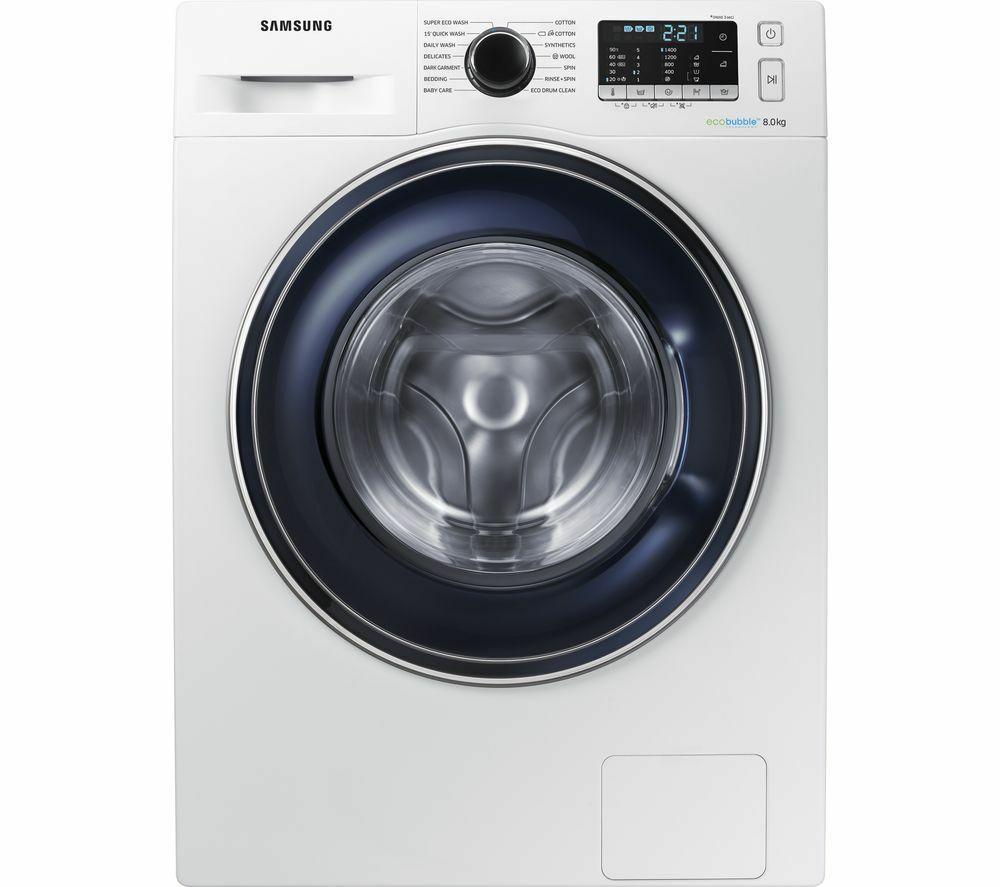 Samsung ecobubble washing machine WW80J5555FW £329, using eBay 20% off code (free p&p) @ Curry's / Ebay