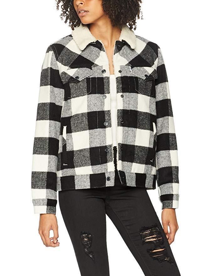 Levi women's wool Sherpa jacket size L Multicolored (Kaffir Oatmeal 2) - only £27 Amazon