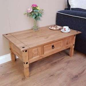 Corona Coffee Table Mexican Solid Pine 1 Drawer  - £31.85 @ mercersfurniture1995 ebay
