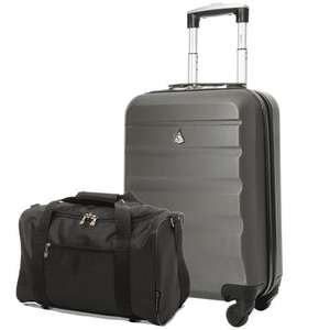 Aerolite Lightweight Hard Shell Cabin Luggage AND Black Holdall set £29.99 delivered @ Packed Direct