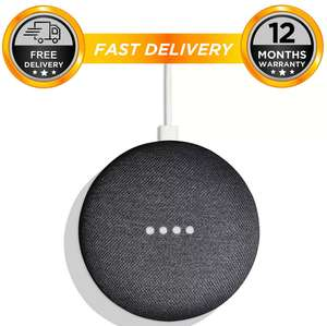 Google Home Mini Smart Assistant - Charcoal + 12 Montths Warranty  - £23.96 with code @  hitechelectronicsuk eBay