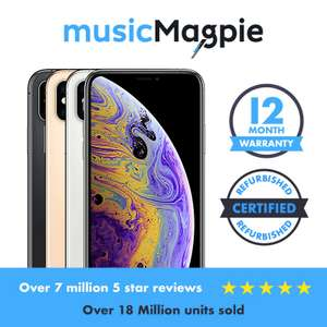 Refurbished Apple iPhone XS Max - 64GB 256GB 512GB - Unlocked 12 month warranty £639.99 ebay /  musicmagpie