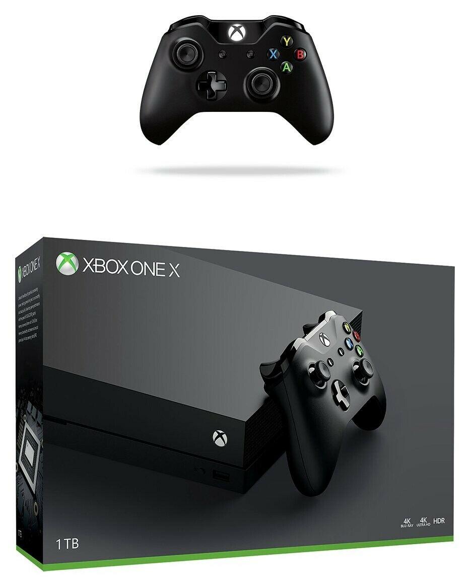 Refurbished Microsoft Xbox One X 1TB 4K UHD Gaming Console and 2 Controllers Bundle £271.99  Argos on eBay