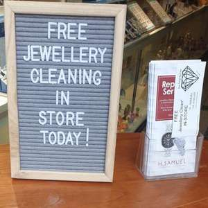 H Samuel free jewellery cleaning nationwide