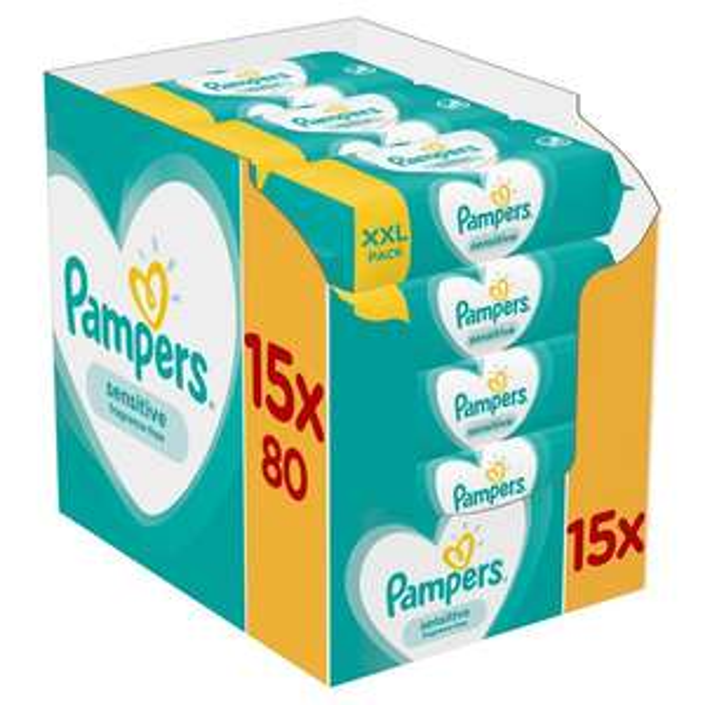 Pampers Sensitive Baby Wipes x 1200 £10 @ Ocado