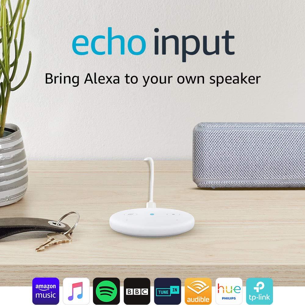 Echo Input (White) – Bring Alexa to your own speaker – £19.99 @ Amazon Prime (+4.99 non prime)