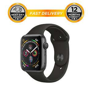 Apple watch Series 4 44mm Space Grey & Black Sports Band - MU6D2LL/A - NEW £305.95 at hitechelectronicsuk eBay