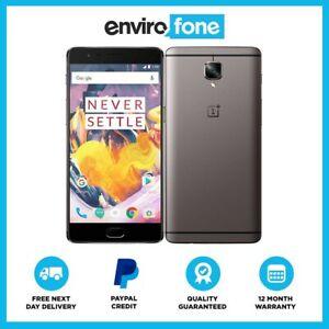 OnePlus 3T SIM Free Smartphone Refurbished Good Condition, Gunmetal 64GB £99.20 / 128GB £119.20 delivered with code @ envirofoneshop ebay