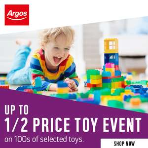 Argos Up to Half Price Toy Event - eg. Zinc Hover Shoes £149.99 /  VTech Grow & Go Ride-On £30, Lego Friends Super Pack £21, Barbie & more