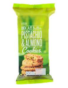 10 All Butter Pistachio & Almond Cookies 87p @ Marks & Spencer (Llanelli)