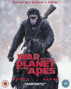 War For The Planet Of The Apes Blu-ray now £3.99 (Prime) + £2.99 (non Prime) at Amazon
